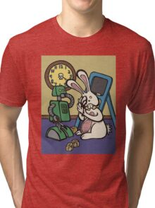 Teddy Bear And Bunny - It's All Fun And Games Tri-blend T-Shirt