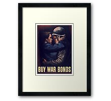 Buy War Bonds -- WW2 Poster Framed Print