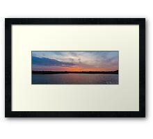 Sunset over Reeds beds II Framed Print