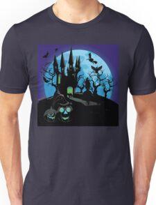 Haunted Halloween Castle 3 Unisex T-Shirt