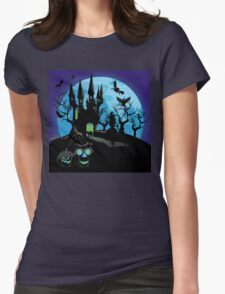 Haunted Halloween Castle 3 Womens Fitted T-Shirt