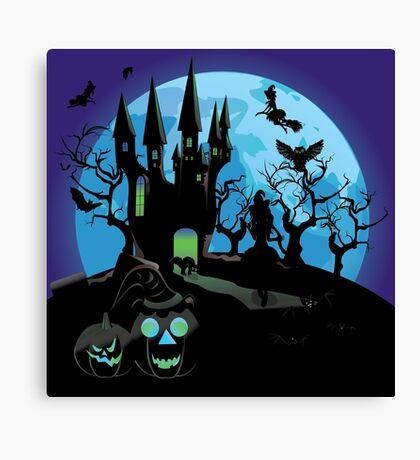 Haunted Halloween Castle 3 Canvas Print