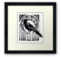 Bird Nouveau Framed Print