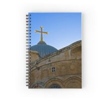 golden cross on the roof of the church of the Holy Sepulchre Spiral Notebook