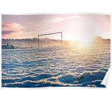 Frozen Football Pitch Poster