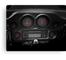 Harley Davidson Digital Instrument Panel Canvas Print