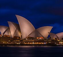 Sydney Opera House at dusk by KeithMcInnes