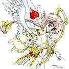 Angel Hikaru shidou and mokona by erkillers