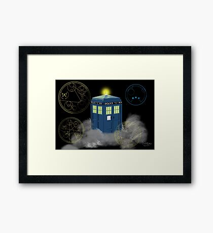 dr who tardis Framed Print