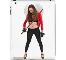 Avenging angle with a sword  iPad Case/Skin