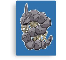 PokéPun - 'Get Down Onix' Canvas Print