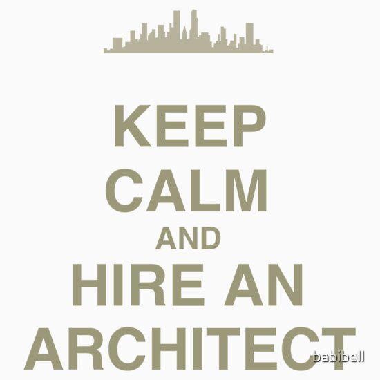 Keep calm and hire an architect stickers by claire for Hire an architect