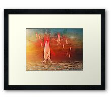 Missile Toes Framed Print