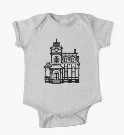 Victorian House - black & white One Piece - Short Sleeve