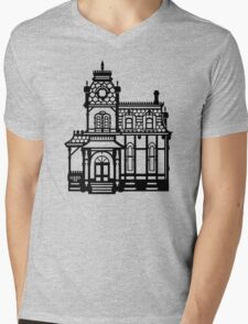 Victorian House - black & white Mens V-Neck T-Shirt