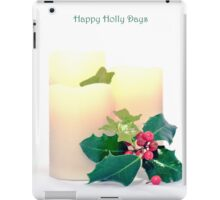 Happy Holly Days iPad Case/Skin