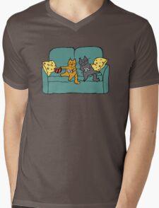 Gamer Cats Mens V-Neck T-Shirt