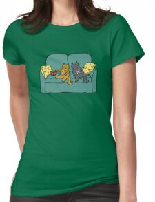 Gamer Cats Womens Fitted T-Shirt