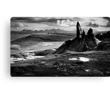 The Old Man of Storr (mono) Canvas Print