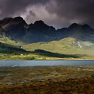 Thre House under the Cuillin by Angie Latham