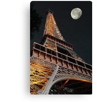 Eiffel Tower moon Canvas Print