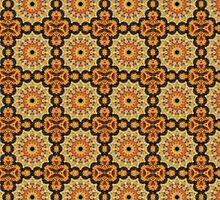 square tile pattern autumn mosaic by matteogamba