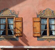 Windows twin in Mittenwald by Arie Koene