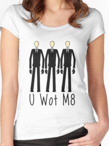 U Wot Slenderman Women's Fitted Scoop T-Shirt