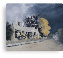 Plague Cottages  Canvas Print