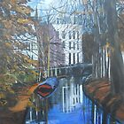 Canals of Utrecht, Holland, C 1300 by Jsimone