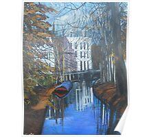 Canals of Utrecht, Holland, C 1300 Poster