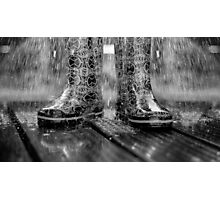 STANDING IN THE RAIN Photographic Print