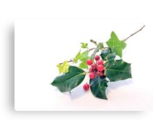 Holly And Ivy Canvas Print