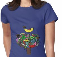 Doodle Throne (Colour) Womens Fitted T-Shirt