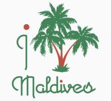 I LOVE MALDIVES T-shirt by ethnographics
