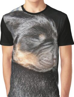 A New Arrival - Rottweiler Puppy Graphic T-Shirt