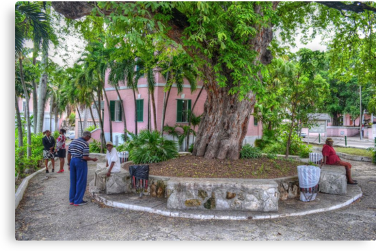 Street Life around The Public Library in Downtown Nassau, The Bahamas by 242Digital
