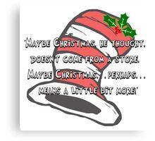 Dr Seuss: Christmas Cheer Canvas Print