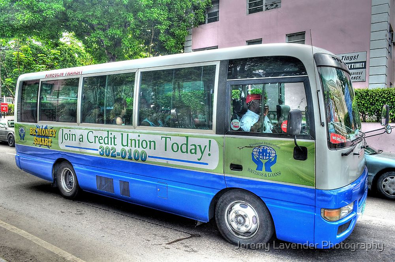 "Public ""Jitney"" in Nassau, The Bahamas by Jeremy Lavender Photography"