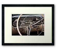 1958 Cadillac Dash Framed Print