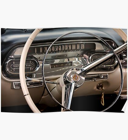 1958 Cadillac Dash Poster