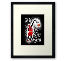 Slam Dunk Quote Framed Print