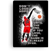 Slam Dunk Quote Canvas Print