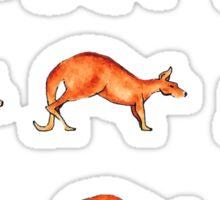 Red Kangaroo in Motion Sticker