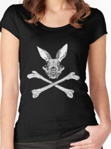 bunny cross bones Women's Fitted Scoop T-Shirt