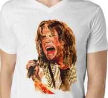 Steven Tyler Watercolour Mens V-Neck T-Shirt