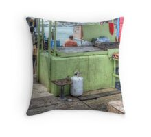 Fishermen selling conchs at Potter's Cay - Nassau, The Bahamas Throw Pillow