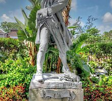 Governor Woodes Rogers Statue in Nassau, The Bahamas by 242Digital