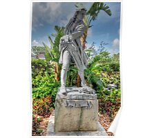 Governor Woodes Rogers Statue in Nassau, The Bahamas Poster