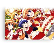 mahou shoujo lyrical nanoha - Chantez - Ixpellia - Nove - Subaru - Teana - Vivio - Christmas Mashup Canvas Print
